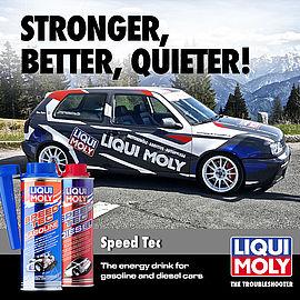 Essayez par vous-même : avec LIQUI MOLY Speed Tec, votre moteur se portera comme un charme !