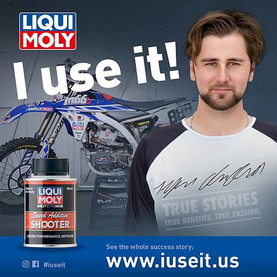 Passionate Motorbike rider and LIQUI MOLY testimonial.