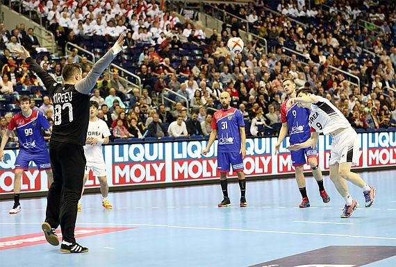 LIQUI MOLY beim Länderspiel der deutschen Handball-Nationalmannschaft.