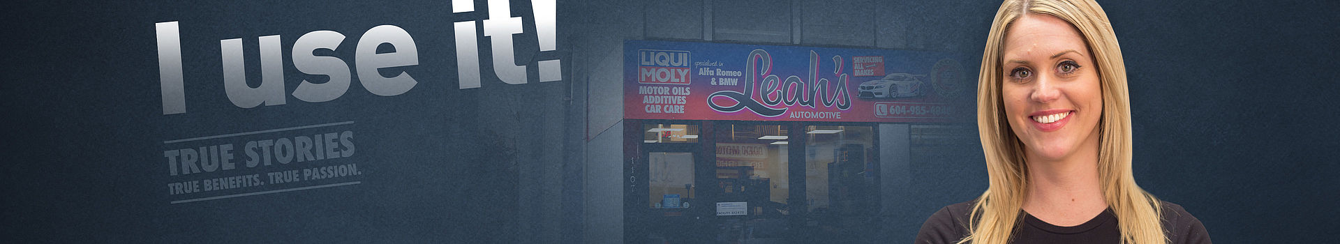 BMW specialist, workshop owner and LIQUI MOLY testimonial. Leah's Automotive