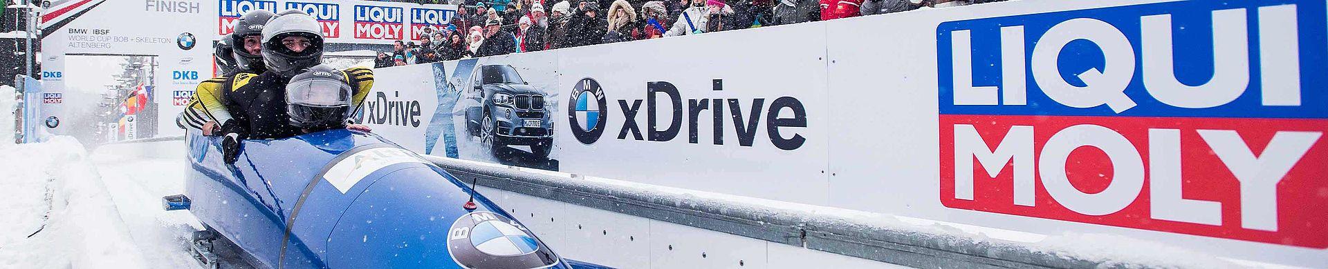 Foto vom LIQUI MOLY Wintersponsoring bei den BMW IBSF World Championships 2017