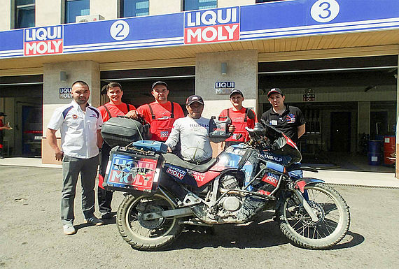 Rahim Resad with the LIQUI MOLY team in Almaty, Kazakhstan