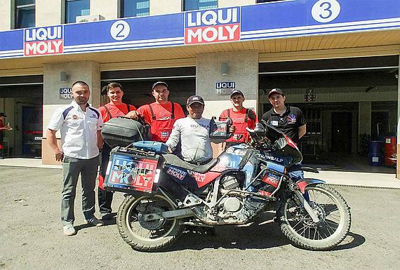 In Almaty in Kasachstan sorgte das LIQUI MOLY Team für einen ordentlichen Service