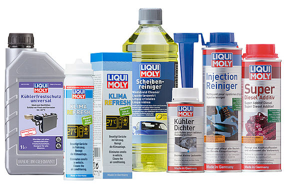 A few simple hand movements and these LIQUI MOLY products help to avoid unwanted stops and expensive repairs
