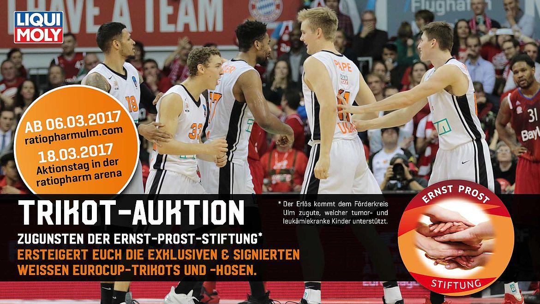 Trikot-Auktion zugunsten der Ernst-Prost-Stiftung