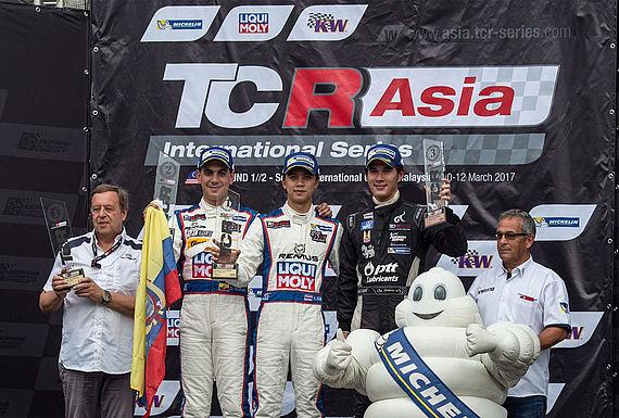 Siegerehrung TCR Asia Sepang Rennen 2017