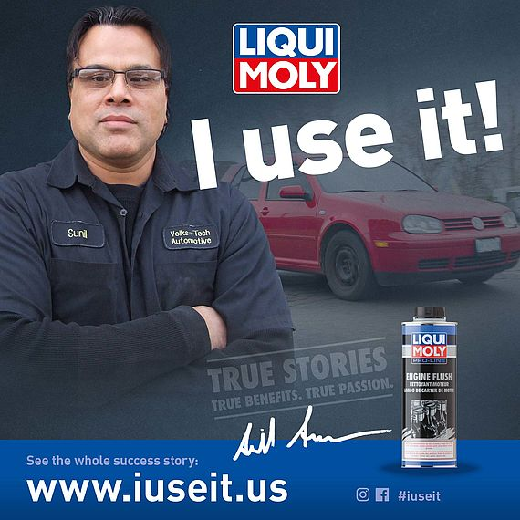 Volkswagen specialist workshop owner and LIQUI MOLY testimonial. Volks-Tech Automotive