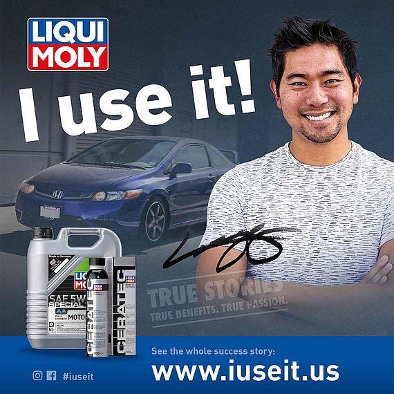 Honda Civic enthusiast and LIQUI MOLY testimonial.