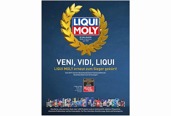 LIQUI MOLY ist beste Schmierstoffmarke  bei der auto motor sport Leserwahl 2017