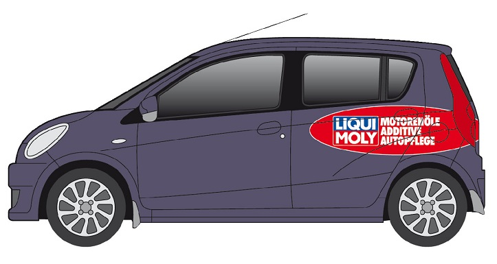 Vehicle labeling: LIQUI MOLY